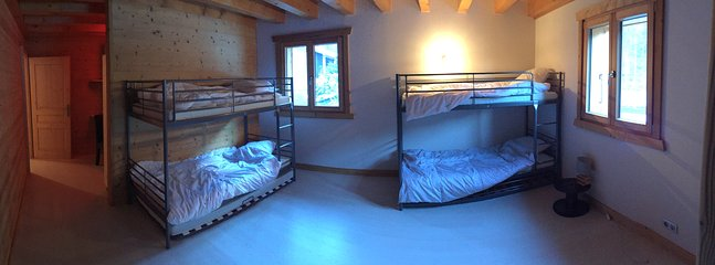 Bedroom 3 with two double bunks and two pull out singles.