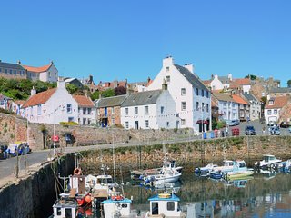 Crail Harbourside House, in one of Scotland's most photographed scenes