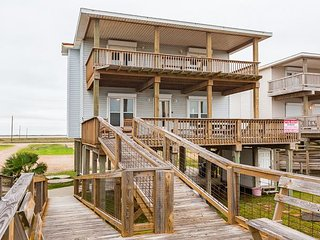 Huge 6BR, 3BA Surfside Beach Home with Gulf Views & Private Pier to the Sand
