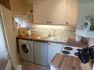 Kitchen with everything you need for a self catering holiday.