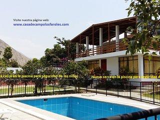 """Casa de campo """"Los Faroles"""" en Lunahuana - Canete, alquiler por temporadas"""