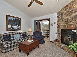 'Bear's Den' condo is just steps away from the Timberline ski lift and lodge.