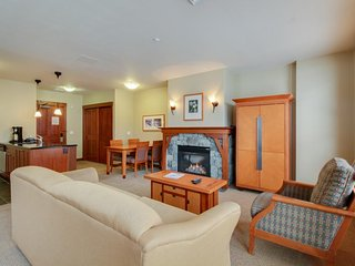 Spacious ski-in/ski-out studio w/ fireplace, balcony, & shared pool/hot tub!