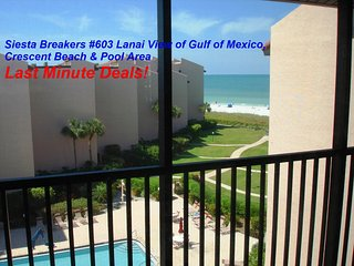 Siesta Breakers #603 in Siesta Key, FL- Sun, Sand & *Save 20% to 45% per Week*