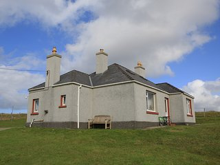 Croft house on Atlantic west coast, Isle of Lewis