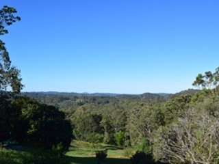 View to the coast from the main deck. Mt Coolum and Mt Ninderry are clearly visible.