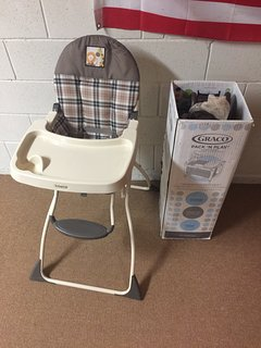 Highchair and Pack and Play