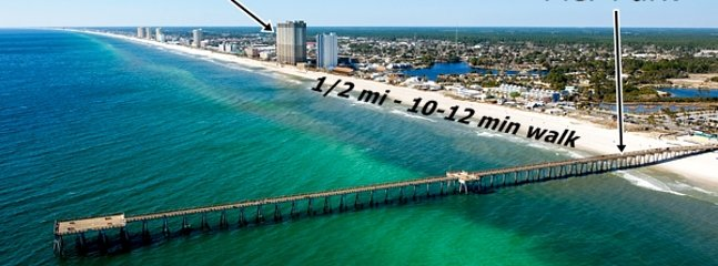 Awesome Location: The Pier at Pier Park - Tidewater (the tall building) is less than 1/2-mi away!