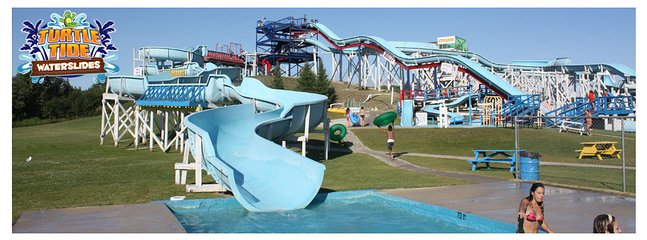 turtletidewaterslides 5 minutes away!