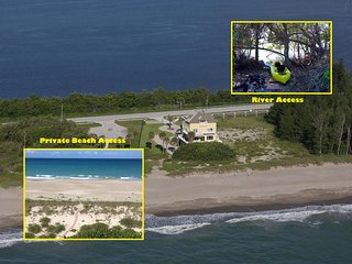 Bella Vista: 7BR/5BA, Ocean-to-River.Directly *ON* Beach. < $100/night per BDRM!, Fort Pierce