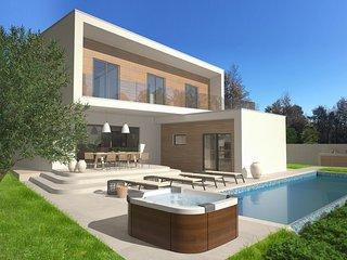 Modern Villa Santa Marina, Swimming Pool, Jacuzzi, BBQ, 6+2 people, Tar-Vabriga