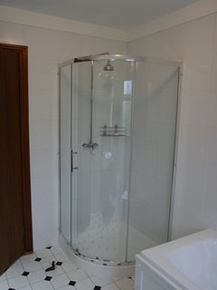Downstairs bathroom with separate shower