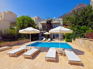 Modern Villa with uninterrupted views overlooking the village and Kalkan Bay