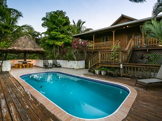 Pool area and Palapa table