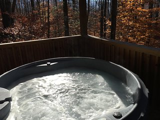 Lovey Dovey is for Lovers- Private Hot Tub, Fireplace, Romantic, View, Free