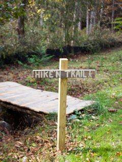 Hike into Pisgah Nation Forest from cabin