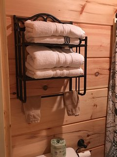 Towels ready for your dip in the hot tub!