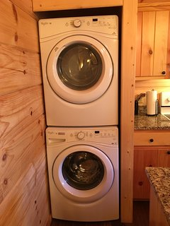 Washer and Dryer so you can pack light!