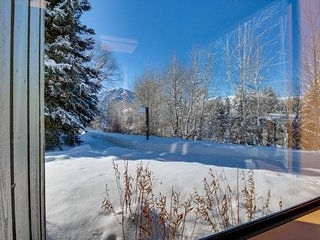 Mountain townhome for six with large deck, shared pool & hot tub, Sun Valley