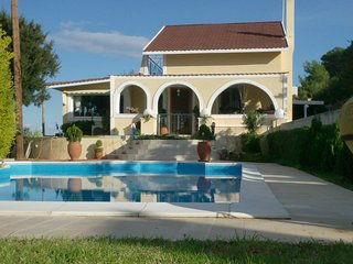 Private pool villa with amazing views & gardens, Aegina