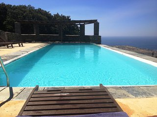 Andros Island Mountain LODGE Sleeps 3  Sea Views Swimming Pool