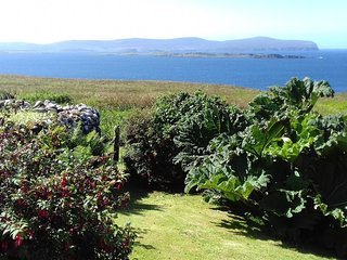 Sea view across the Garden and Croft from your Lounge Window