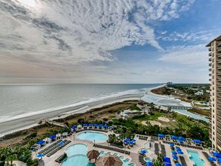 2.5 ACRE POOL COMPLEX,FITNESS/SPA,Oceanfront N Beach TOWERS 2BR 2BA Condo.Sleeps