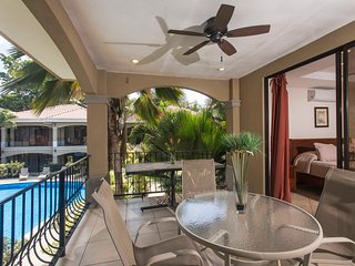 Second floor Unit #7 with pool view, Jaco