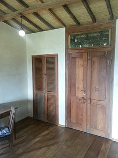 Old doors refashioned for a new life.