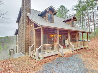 Dog-friendly mtn. views, private hot tub, movie lounge, access to shared pools,, Ellijay