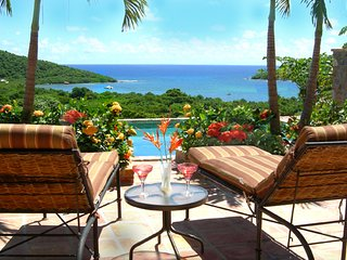 Luxury Caribbean Villa with Panoramic Ocean View, Cruz Bay
