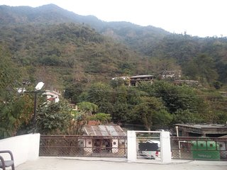 1bhk fully furnished home with three side mountain view, River behind the home