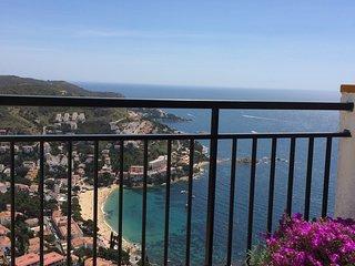 Appart  avec vue spectaculaire sur la plage de canyelles  terrasse piscine