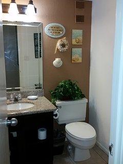 Half bathroom on the main floor.