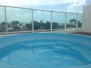 Apartamento cobertura duplex ,piscina privativa,beira mar tambau