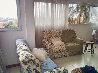 AP 3D suite, churrasqueira, garagem, 700 metros do mar, Praia Grande.