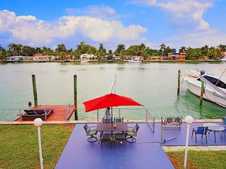 Waterfront Villa with a Dock, Downtown View, North Bay Village