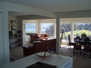 Living Room open plan with views over Huon River and Hartz Mountains