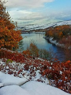 Digley Reservoir in the Peak District only a 9 minute drive away