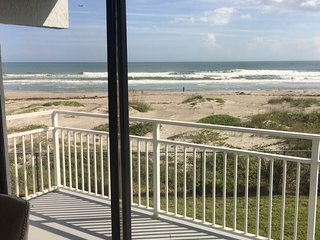 Beachfront condo with direct ocean view, just completed remodel of entire unit.