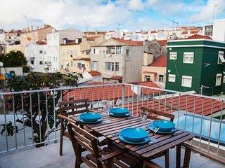 Sun Terrace Graça IV apartment in Graça {#has_lux…, Lisbona