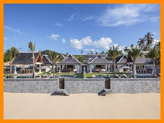 5044 - Beachfront (sleeps 10 + 6 kids) Thai chef service and shared gym, Mae Nam