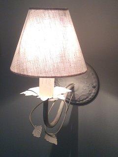 Detail of the overhead bedside light