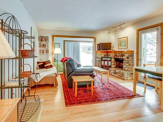 Dog-friendly, mountain view studio w/ patio - walk to Bald Mtn chairlifts!