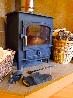 Wood burning stove (wood supplied)