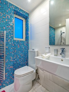 Ground level: bathroom with shower