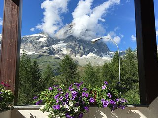 Warm And charming flat facing Matterhorn