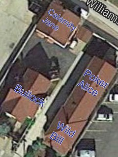 Aerial view of the properties