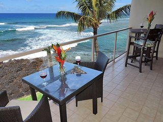 Kuhio Shores 418 - Oceanfront Two Bedroom 'Penthouse' Poipu Condo with A/C