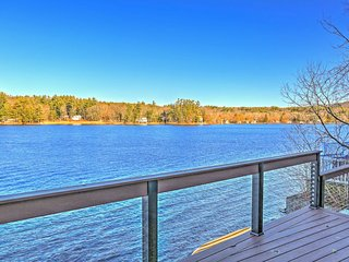 Lakefront 2BR New Marlborough Cottage w/Deck